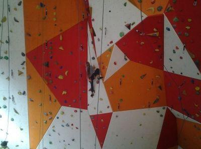 The climbing wall on Stara Sava